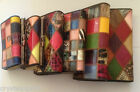 New Ladies Patchwork Patent Leather Purse Multi Colour- Choose from 3 Sizes