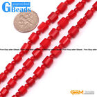 """3-6mm Graduated Gemstone Red Coral DIY Jewerly Necklace Making Loose Beads15"""""""