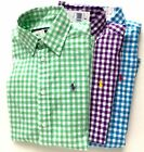 NWT Ralph Lauren Sport Women's Gingham Plaid Classic Shirt Button Down Blouse
