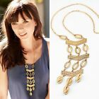 Retro Vintage Silver/Gold Plated Drop-shaped Long Necklace Pendant Sweater Chain