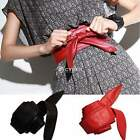 Women Fashion Soft Faux Leather Bowknot Wide Belt Waistband Tie up Belts DZ88
