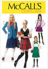 McCall's 7141 Paper Sewing Pattern to MAKE Blazer Vest & Pleated Skirt Cosplay