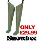 Snowbee Nylon/PVC Thigh Waders - Cleated or Combi Soles Fly Fishing RRP £49.99!!