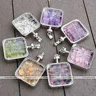 Natural Crystal Quartz Beads Healing Chakra Gemstone Pendant For Chain Necklace