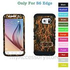 Samsung Galaxy S6 EDGE Grass Camo RKR Hard&Rubber Rugged Armor Phone Case Cover