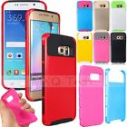 2IN1 Rugged Hybrid Heavy Duty ShockProof Case Cover For Samsung Galaxy S6 & Edge