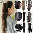 New Long Layered Pony Tail Clip-On Hair Piece Extensions Wrap Around Ponytail x6