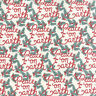 WINTERBERRY ~ KATE & BIRDIE PAPER CO ~ 100% OOTTON ~ BY THE YARD ~ SNOW 13141-11