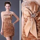 Wedding Guest Beaded Vintage 50s Evening Gown Cocktail Party Short Prom Dresses