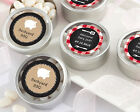 72 Personalized Backyard BBQ Round Silver Candy Tins Baby...
