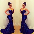 Sexy Women's Mermaid Sequins Prom Ball Cocktail Party Dress Formal Evening Gown