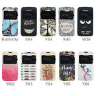 """Art Flip PU Leather View Window Stand Case Cover For Alcatel Pop C5 4.5 """""""