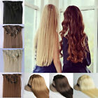 CLEARANCE SALE 8 piece full head clip in hair extensions long straight curly NEW