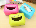 Rotatable Smile Tissue Paper Box Cover Case Holder Home Decoration BA915-918
