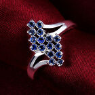Fashion Accesories 925Sterling Silver Zircon Blue Grapes Lady Ring #7 8 R528
