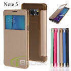Window Flip Folio PU Leather Case Cover For Samsung Galaxy Note 5 SM-N920 New
