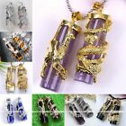 Pair Dragon Phoenix Gemstone Column Lovers Divination Reiki Pendant Charms Beads
