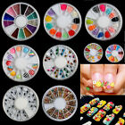 Clay Fimo 3D Nail Art False Tips Decoration Fruit Flowers Candy Butterfly Skull