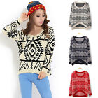 New Autumn Womens Long Sleeve Knitted Pullover Jumper Loose Sweater Knitwear Top