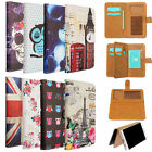 Universal 4''-5.8'' Flip Leather Card Wallet Cover Case Stand For Phone