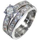 2.6CTW BRILLIANT STONES ENGAGEMENT - WEDDING RING SET (2 RINGS) size 5,6,8,9,10