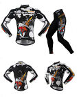 Hot Long Sleeve Outdoor Sports Breathable Cycling Jersey Set T-shirt Pants Suit