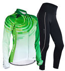 Women's Outdoor Cycling Polyester Jersey&Padded Pants MTB Bike BMX Roadbike S-XL