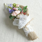 Vintage Wedding Flower Girl Bouquet Table Flowers Bridal Shower Party Decoration