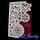 Exquisite Hollow Carved Lacy 3 Fold Christmas Cards - Multi-Design