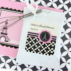 24 Personalized Parisian Paris Theme Hot Cocoa Mix Pouches Wedding Favors