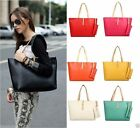 New Designer Large Womens Leather Style Tote Shoulder Bag Handbag Ladies UR