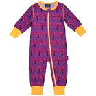 BNWT Maxomorra Apple Tree Baby Sleepsuit NEW purple romper babygrow organic