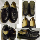 Soft Spots Black Leather Lace Up Pointed Toe Oxford Walking Comfort Shoe Size 7
