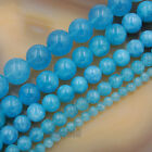 "Smooth Aquamarine Quartz Gemstone Round Beads 15.5"" 4mm 6mm 8mm 10mm 12mm"