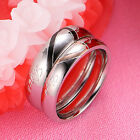 "New ""Real Love"" Couple Rings Heart Engagement Wedding Band Fashion Jewelry"
