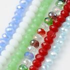 5x8mm Faceted Crystal Glass Loose Beads Charms Fit Jewelry Making DIY Findings