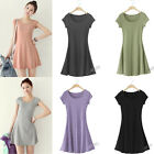Women Pure Cotton Casual Sundress Tank Mini Dress Tops Blouse T SHIRT Plus Size