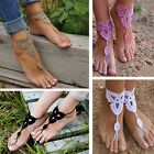 Barefoot Sandals Boho Crochet Cotton Foot Jewelry Anklet Bracelet Ankle Chain