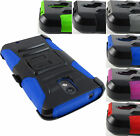 FOR MOTOROLA PHONES RUGGED ARMORED HYBRID CASE COVER+CLIP HOLSTER+STYLUS
