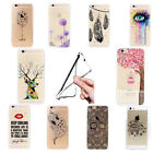 Fashion Pattern Soft Clear Phone Case Cover TPU For Apple iPhone 5 5S 6 6s Plus