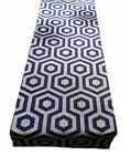 1 TABLE RUNNERS -made in HEX col COBALT blue geometric -fully lined wedding