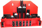 RDGTOOLS 52PC CLAMPING KIT METRIC IMPERIAL T SLOTS CLAMPS STEP BLOCKS STUDS