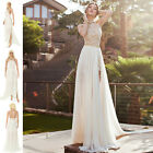 D New Lace Long Chiffon Bridesmaid Evening Formal Party Cocktail Dress Gown Prom