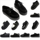 Womens Flats High Platform Lace Up Creepers Goth Punk Style Shoes US Size 4 - 9