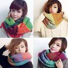 Winter Knitted Neck Circle Cowl Wool Warm Scarf Shawl Wrap Loop Collar New K0E1