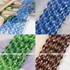 10x15mm Oval Crystal Glass Faceted Loose Beads For Jewelry Findings Making DIY