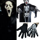 Skull  Skeleton Halloween Gloves Costume Long Sleeve Cosplay Suit Fancy Dress