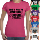THIS IS WHAT AN AWESOME COUSIN LOOKS LIKE T SHIRT- BEST FAMILY GIFT PRESENT XMAS