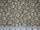 Crazy Daisy Flower Floral Fabric UPICK BTY by yard 36x44 new quilt calico craft