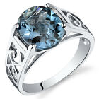 2.75 cts London Blue Topaz Solitiare Ring Sterling Silver Sizes 5 to 9